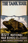 Title: The tank tour. Buy national war bonds (£5 to £5000) and war savings certificates 1918