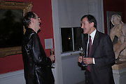 Sir Neil Macgregor and Richard Cork, Celebration honouring the arrival of Deborah Swallow, director, Courtauld Institute of Art. Courtauld Gallery. Somerset House. 9 December 2004. ONE TIME USE ONLY - DO NOT ARCHIVE  © Copyright Photograph by Dafydd Jones 66 Stockwell Park Rd. London SW9 0DA Tel 020 7733 0108 www.dafjones.com