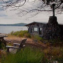 Caretaker Phil Green and House, Yellow Island, San Juan Islands, Washington, US