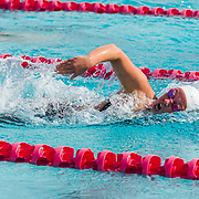16 November 2017: The San Diego State women's swim team competes in the 2017 A3 Performance Invitational held at the SDSU Aquaplex. SDSU freshman Gianna Haugen competes in the 200 yard IM.<br /> www.sdsuaztecphotos.com