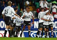 Fotball, 22. september 2003, Tippeligaen,  Sogndal-Viking, Sogndal, her ved Håvard Flo jubler etter  scoring