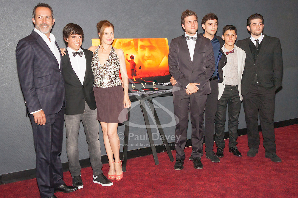 London, June 23rd 2014. The cast of actors who played Seve Ballesteros' family attend the London premiere of the film Seve, a biopic of the life of the legendary Spanish golfer.