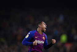 February 6, 2019 - Barcelona, Catalonia, Spain - February 6, 2019 - Camp Nou, Barcelona, Spain - Copa del Rey - FC Barcelona v Real Madrid CF; Malcom of FC Barcelona celebrates scoring his side's first goal  (Credit Image: © Marc Dominguez/ZUMA Wire)