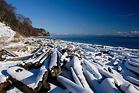 Goose Spit after a fall of snow   Photo: Peter LLewellyn