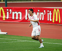 Photo: Chris Ratcliffe.<br />England Training Session. FIFA World Cup 2006. 28/06/2006.<br />Gary Neville back in training.