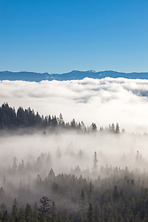 """Fog Over Truckee 1"" - Photograph of low lying fog over Truckee, California and Donner Lake."