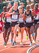It was a replay of the 2012 London Olympics for a while as gold medalist MO FARAH (GBR) and silver medalist GALEN RUPP (USA) ran side by side in the mens 500m competition during the second day of the Diamond League event Prefontaine Classic held at the University of Oregons Hayward Field.The Prefontaine Classic is named for University of Oregon track legend Steve Prefontaine.