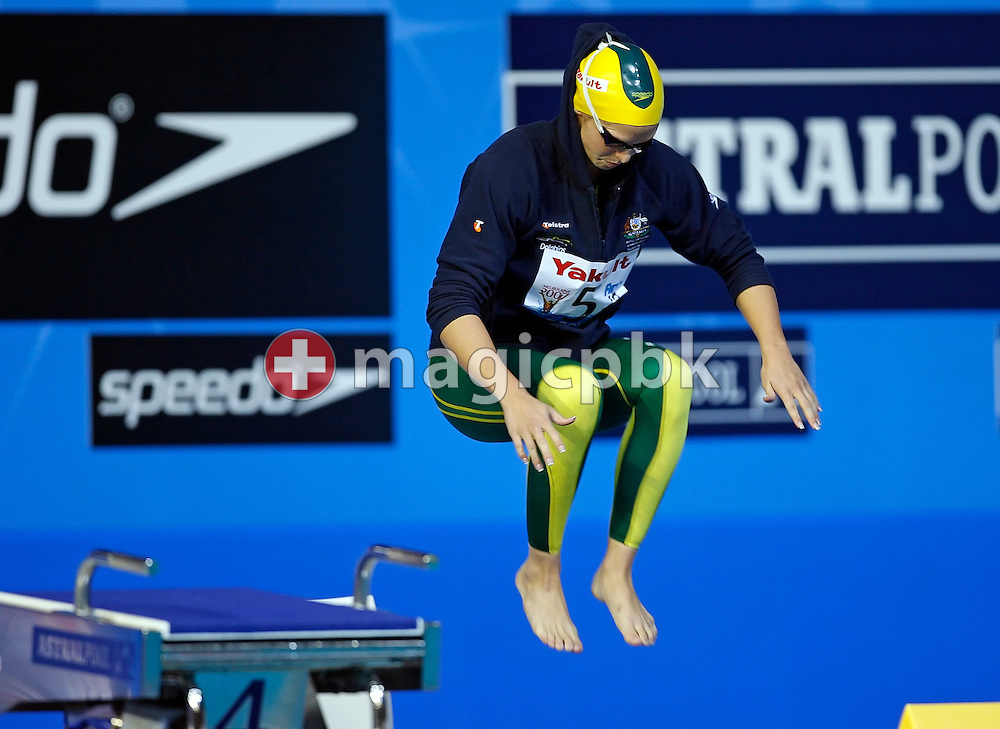 Lisbeth (Libby) Lenton of Australia prepares herself before starting to win the gold medal in the  women's 100m freestyle final in the Susie O'Neill pool at the FINA Swimming World Championships in Melbourne, Australia, Friday 30 March 2007. (Photo by Patrick B. Kraemer / MAGICPBK)