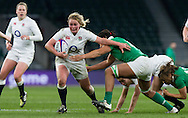 Izzy Noel-Smith in action, England Women v Ireland Women in a 6 Nations match at Twickenham Stadium, Whitton Road, Twickenham, England, on 27th February 2016