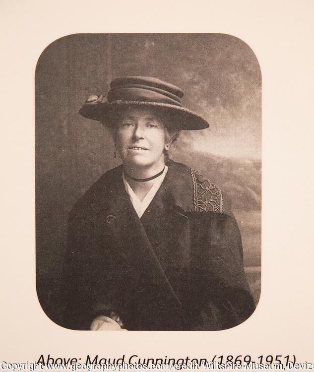 Portrait of Maud Cunnington 1869-1951. With permission of Wiltshire Museum, Devizes, England, UK
