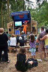 Latitude Festival, Henham Park, Suffolk, UK July 2018. Fringe performance in The Faraway Forest