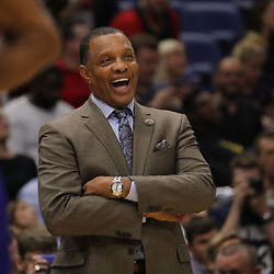 Oct 23, 2018; New Orleans, LA, USA; New Orleans Pelicans head coach Alvin Gentry during the first quarter against the Los Angeles Clippers at the Smoothie King Center. Mandatory Credit: Derick E. Hingle-USA TODAY Sports
