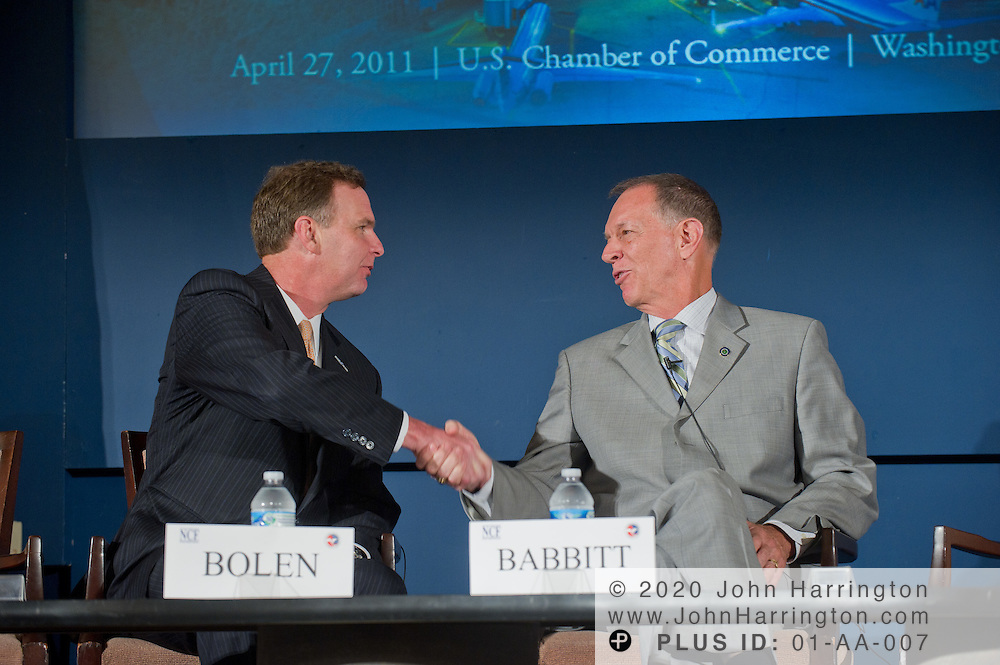 The 10th Annual Aviation Summit featuring a talk between the Honorable J. Randolph Babbitt, Administrator of the Federal Aviation Administration and Ed Bolen, President and CEO of the National Business Aviation Association Inc. at the U.S. Chamber of Commerce in Washington, DC on April 27th, 2011.