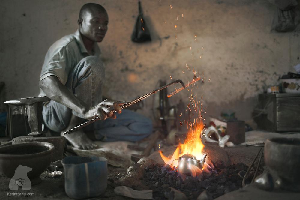 Blacksmith at work, Ségou, Mali
