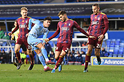 Coventry City midfielder (on loan from Aston Villa) Callum O'Hare) (17) scores a goal from open play 1-1 during the The FA Cup match between Coventry City and Ipswich Town at the Trillion Trophy Stadium, Birmingham, England on 1 December 2019.
