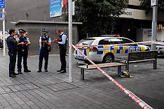 Auckland-Police investigate stabbing in Fort Street
