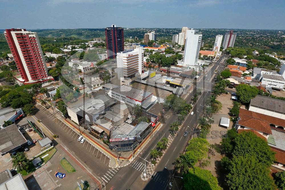 FOZ DO IGUAÇU, PR, 23.10.2016 – TURISMO – FOZ DO IGUAÇU – Vista do centro da cidade de Foz do Iguaçu na manhã deste domingo (23). (Foto: Paulo Lisboa/Brazil Photo Press)