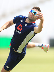 England's Mark Wood during the nets session at Trent Bridge, Nottingham.