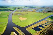 Nederland, Friesland, Alde Feanen, 10-10-2014;<br /> De Oude Venen, rechtsonder Polder de Wildlanden met Rengerspole.