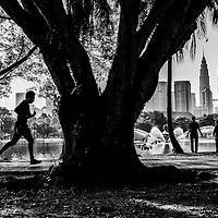Activities at Titiwangsa Lake in the morning, Kuala Lumpur, Malaysia.