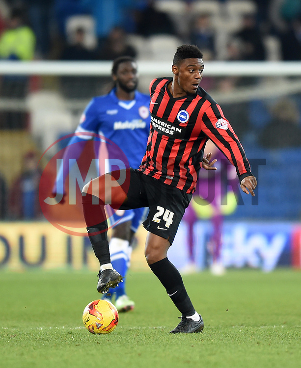 Brighton and Hove Albion's Rohan Ince in action during the Sky Bet Championship match between Cardiff City and Brighton & Hove Albion at Cardiff City Stadium on 10 February 2015 in Cardiff, Wales - Photo mandatory by-line: Paul Knight/JMP - Mobile: 07966 386802 - 10/02/2015 - SPORT - Football - Cardiff - Cardiff City Stadium - Cardiff City v Brighton & Hove Albion - Sky Bet Championship