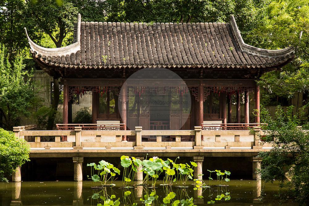 The Nine Lion Pavilion in Yu Yuan Gardens Shanghai, China