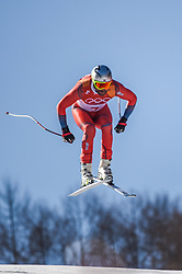 February 15, 2018 - Jeongseon, Gangwon, South Korea - Aksel Lund Svindal of  Norway competing winning mens downhill at Jeongseon Alpine Centre at Jeongseon , South Korea on February 15, 2018. (Credit Image: © Ulrik Pedersen/NurPhoto via ZUMA Press)