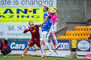 Zander Clark (#1) of St Johnstone FC punches the ball clear during the Ladbrokes Scottish Premiership match between St Johnstone and Motherwell at McDiarmid Stadium, Perth, Scotland on 11 May 2019.