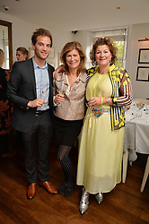 Left to right, FERDINAND POUGATCH, VIRGINIE TAITTINGER and LARA GRYLLS at a lunch to promote the jewellery created by Luis Miguel Howard held at Morton's, Berkeley Square, London on 20th October 2016.