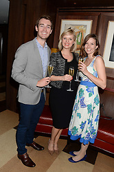 Left to right, DAVID CHILD, CLEMENTINE FLETCHER and AMY GRAY at a party to celebrate Ben Goldsmith guest-editing the July/August 2013 edition of Spears Magazine held at 45 Park Lane, London on 19th June 2013.