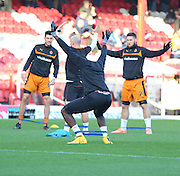 Sako boots during warm up during the Sky Bet Championship match between Brentford and Wolverhampton Wanderers at Griffin Park, London, England on 29 November 2014.