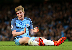 Kevin De Bruyne of Manchester City reacts after missing a chance - Mandatory by-line: Matt McNulty/JMP - 08/03/2017 - FOOTBALL - Etihad Stadium - Manchester, England - Manchester City v Stoke City - Premier League