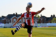 Pierce Sweeney (2) of Exeter City during the EFL Sky Bet League 2 match between Exeter City and Lincoln City at St James' Park, Exeter, England on 17 May 2018. Picture by Graham Hunt.