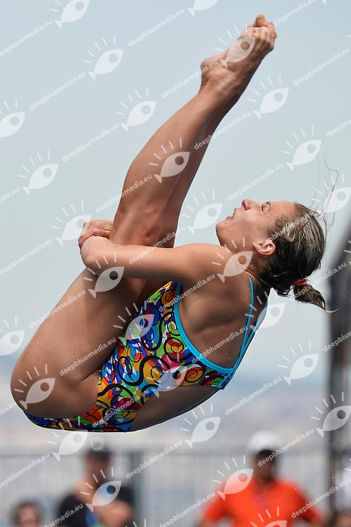 Anna Pysmkenska Ukraine <br /> Diving Women's 3m Springboard - Tuffi Trampolino 3m Donne  <br /> Barcellona 26/7/2013 Piscina Municipal <br /> Barcelona 2013 15 Fina World Championships Aquatics <br /> Foto Andrea Staccioli Insidefoto