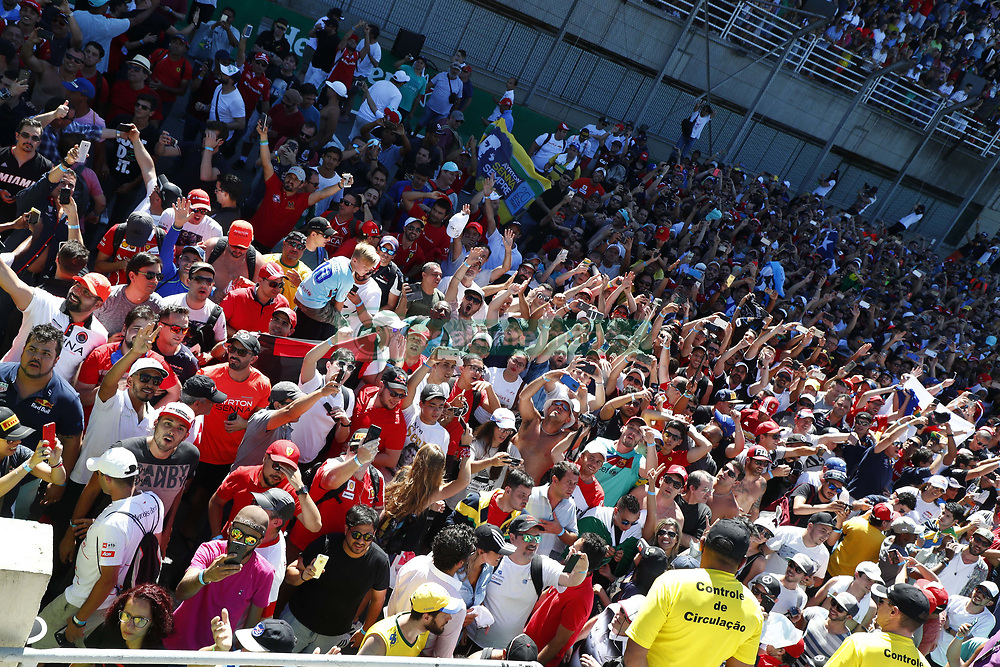 November 12, 2017 - Sao Paulo, Brazil - Motorsports: FIA Formula One World Championship 2017, Grand Prix of Brazil, .Fans  (Credit Image: © Hoch Zwei via ZUMA Wire)