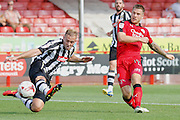 Crawley Town forward James Collins (19) has a shot on goal during the EFL Sky Bet League 2 match between Crawley Town and Notts County at the Checkatrade.com Stadium, Crawley, England on 27 August 2016. Photo by Andy Walter.