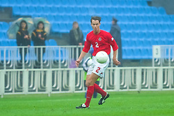 KIEV, UKRAINE - Tuesday, June 5, 2001: Wales' Ian Hillier in action during the Under-21 World Cup Qualifying match against Ukraine at the Dynamo Stadium. (Pic by David Rawcliffe/Propaganda)