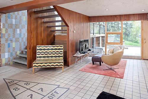 Mid Century Modern William Dale House In Minneapolis, Minnesota. Frank  LLoyd Wright Inspired.