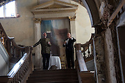 ALEXANDER CRESWELL;  DAVID DELANEY, Opening of Grange Park Opera, Fiddler on the Roof, Grange Park Opera, Bishop's Sutton, <br /> Alresford, 4 June 2015