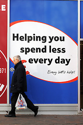 """© Licensed to London News Pictures. 09/12/2014. Today picture of Tesco Extra Orpington High Street Kent. Tesco has warned today 9th December 2014, its full-year profits will be substantially below market expectations. The supermarket chain said its group trading profit for the full financial year """"will not exceed £1.4bn"""", below the £1.8bn to £2.2bn range expected by markets. The downgraded guidance follows its admission earlier this year that it had misstated its profits by £263m (Byline:Grant Falvey/LNP)"""