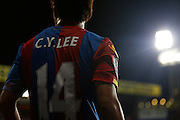 Chung Yong Lee prepares a corner during the Capital One Cup match between Crystal Palace and Charlton Athletic at Selhurst Park, London, England on 23 September 2015. Photo by Michael Hulf.