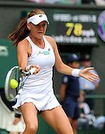 Wimbledon Championships 2012 AELTC,London,.ITF Grand Slam Tennis Tournament, Damen Semi Finale, Agnieszka Radwanska (POL), Aktion,Einzelbild,Halbkoerper,Hochformat,.