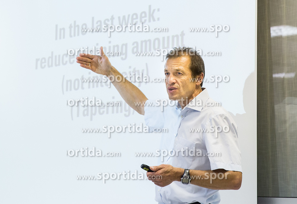 A lecture of Dr. Wolfgang Feil Strategy: Food for athletes and Healing of Arthritis, on September 8, 2014 in Ljubljana, Slovenia. Photo by Vid Ponikvar  / Sportida.com