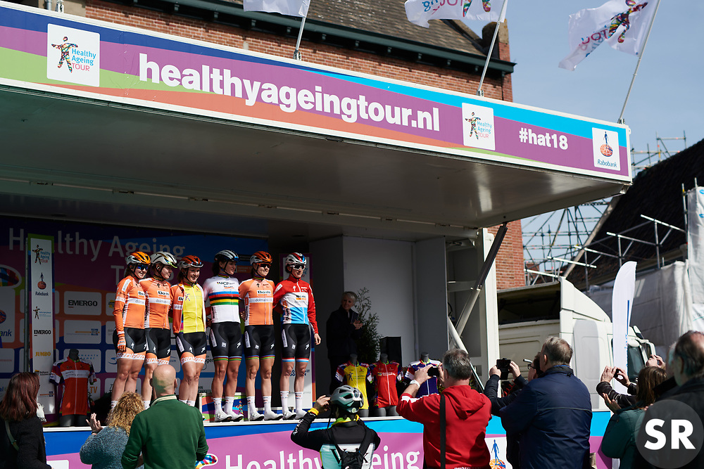 Boels Dolmans sign on at Healthy Ageing Tour 2018 - Stage 4, a 143 km road race starting and finishing in Winsum on April 7, 2018. Photo by Sean Robinson/Velofocus.com