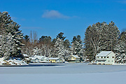 Cottage on frozen Lake Rosseau<br />