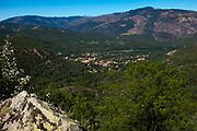 Vernet Les Bains, view from Canigou mountain