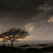 Hell storm, followed by heavy rain & wind, Sahyadri, INDIA.