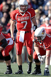 14 October 2006: Luke Drone (7) and Joe Niklasch. The 6th largest crowd at Hancock Stadium came to watch a game that put 8th ranked Southern Illinois Salukis against 5th ranked Illinois State University Redbirds.  The Redbirds stole the show for a Homecoming win by a score of 37 - 10. Competition commenced at Hancock Stadium on the campus of Illinois State University in Normal Illinois.<br />