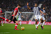 West Bromwich Albion striker Saloman Rondon (9) blocks a clearance during the Premier League match between West Bromwich Albion and Southampton at The Hawthorns, West Bromwich, England on 3 February 2018. Picture by Dennis Goodwin.