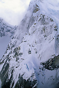 Ruth Glacier, Ruth Gorge, Alaska Range, Aerial Photo, Winter, Glacier, Crevasse, Ice, Snow, Mount McKinley, Denali National Park, Alaska